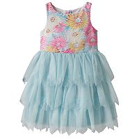 Toddler Girl Marmellata Classics Burnout Flower Bodice Tiered Dress