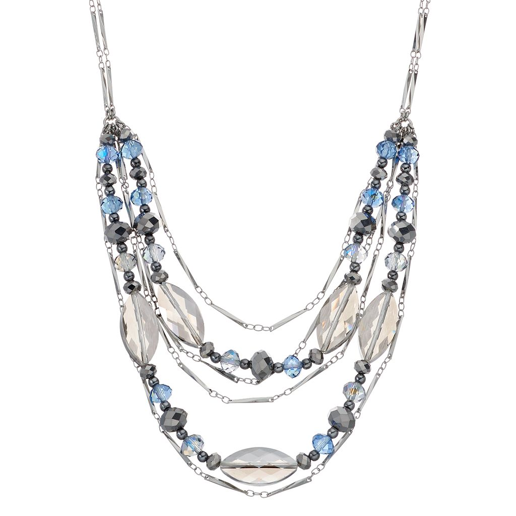 Simply Vera Vera Wang Beaded Swag Necklace