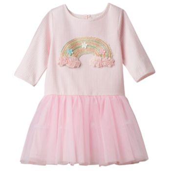 Toddler Girl Marmellata Classics Embroidered Rainbow Tutu Dress