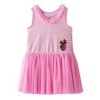 Toddler Girl Marmellata Classics Pineapple & Striped Tutu Dress