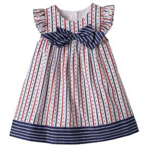 Toddler Girl Marmellata Classics Flutter Sleeve Stars, Hearts & Stripes Dress