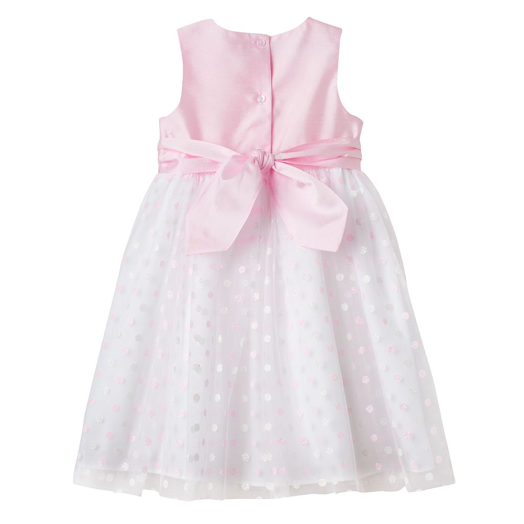 Toddler Girl Marmellata Classics Glitter Polka-Dot Skirt Dress