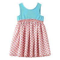 Toddler Girl Marmellata Classics Bow Back Stripe & Polka-Dot Dress