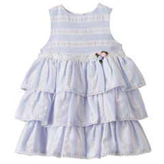 Toddler Girl Marmellata Classics Striped Tiered Dress