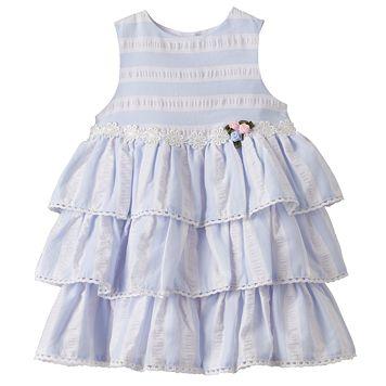 Toddler Girl Marmellata Classics Striped Tiered Dress