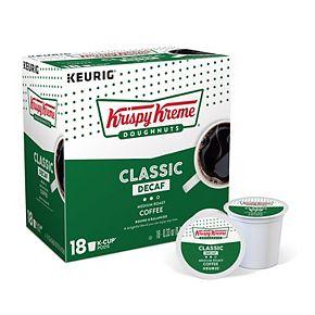 Krispy Kreme Decaf Coffee, Keurig® K-Cup® Pods, Medium Roast, 18 Count