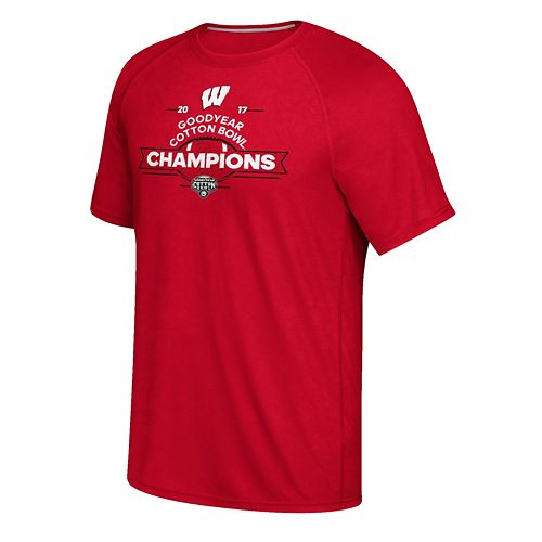 Men's adidas Wisconsin Badgers 2017 Cotton Bowl Champions Tee