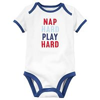 Baby Boy Carter's Embroidered Slogan Bodysuit