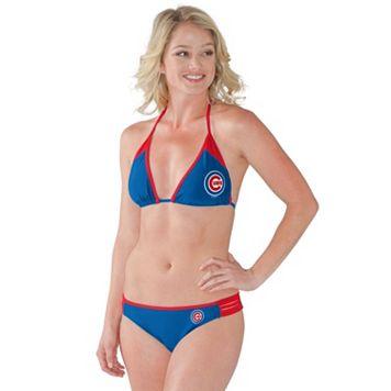 Women's Chicago Cubs Outfielder 2-Piece Bikini Swimsuit