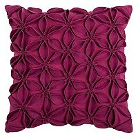 Rizzy Home Textured Floral Throw Pillow