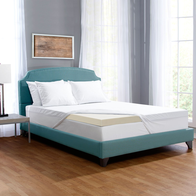 serta 3inch comfort boost memory foam mattress topper