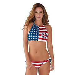 Women's Chicago Cubs Patriotic 2-Piece Bikini Swimsuit