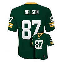 Boys 8-20 Green Bay Packers Jordy Nelson Tate NFL Replica Jersey