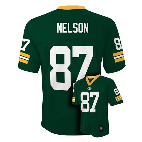 Boys 8-20 Green Bay Packers Jordy Nelson Tate NFL Replica Jersey