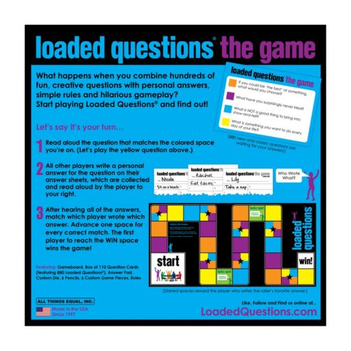 Loaded Questions Game by All Things Equal