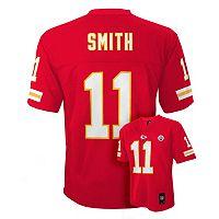 Boys 8-20 Kansas City Chiefs Alex Smith NFL Replica Jersey