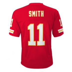 Boys 8-20 Kansas City Chiefs Alex Smith NFL Replica Jersey