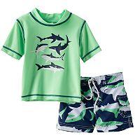 Baby Boy Carter's Shark Rash Guard & Swim Trunks Set