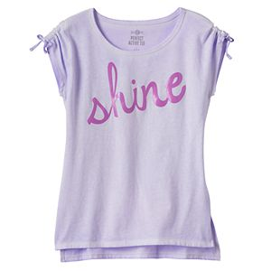 Girls 7-16 & Plus Size SO® Gathered Shoulder Graphic Tee