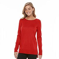 Women's Apt. 9® Metallic Crewneck Tunic Sweater