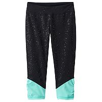 Girls 7-16 & Plus Size SO® Sparkle Ruched Capri Leggings