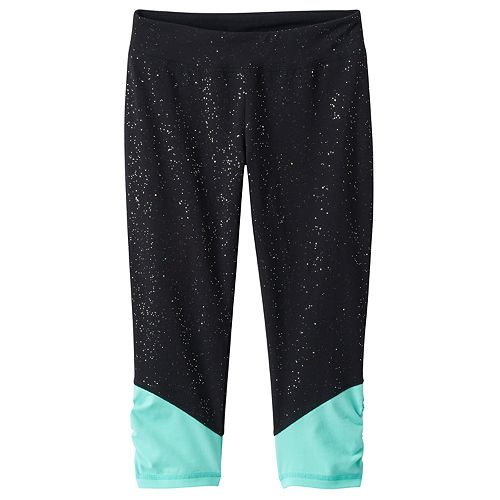 7-16 & Plus Size SO® Sparkle Ruched Capri Leggings
