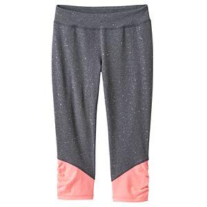 Girls 7-16 & Plus Size SO® Sparkle Ruched Capri Leggings