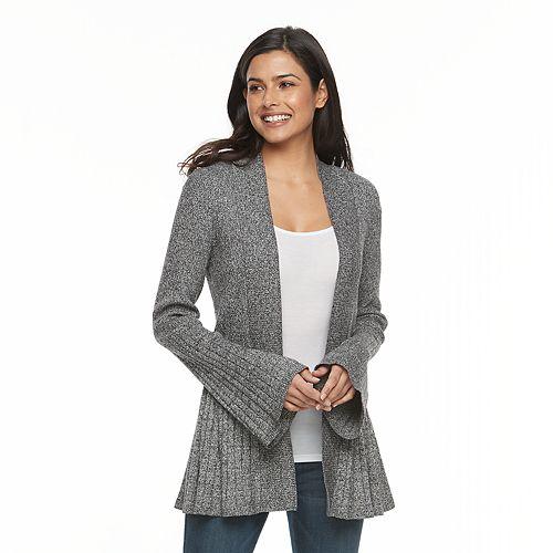 Women's Apt. 9® Pleated Cardigan