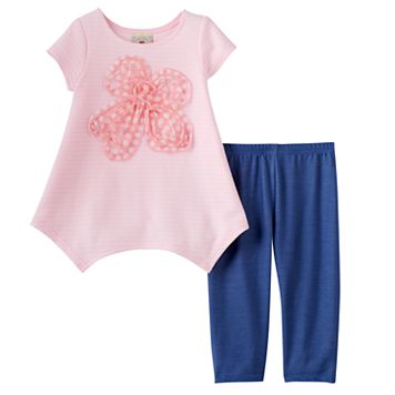 Girls 4-6x Marmellata Classics Pink Soutache Top & Leggings Set