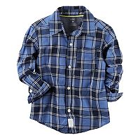 Boys 4-8 Carter's Plaid Button-Down Pocket Shirt