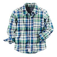 Boys 4-8 Carter's Plaid Button-Down Pocket Shirt