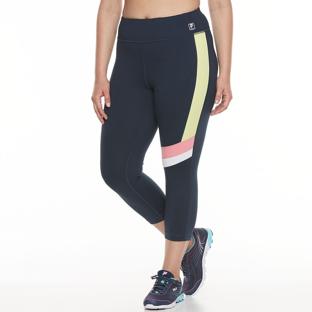 Plus Size FILA SPORT® Cross Stripe Crop Pants