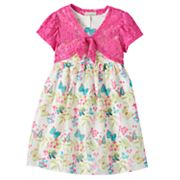 Girls 4-6x Marmellata Classics Butterfly Dress & Shrug Set
