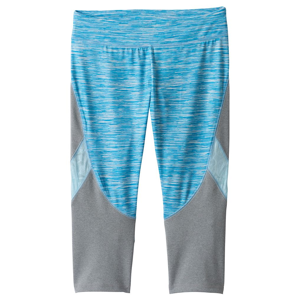 Girls 7-16 & Plus Size SO® Space-Dyed Lace Trim Capri Leggings