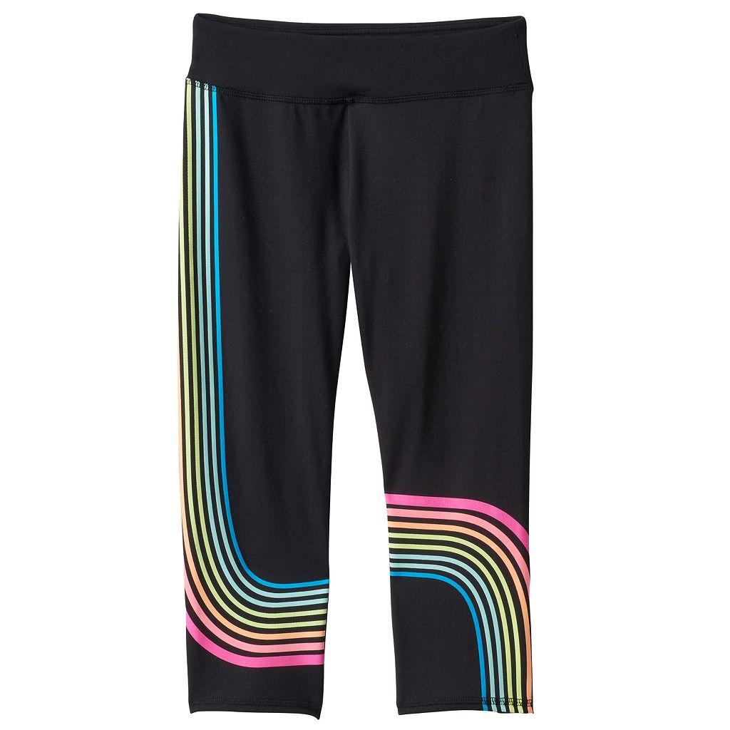 Girls 7-16 & Plus Size SO® Rainbow Stripe Performance Capri Leggings