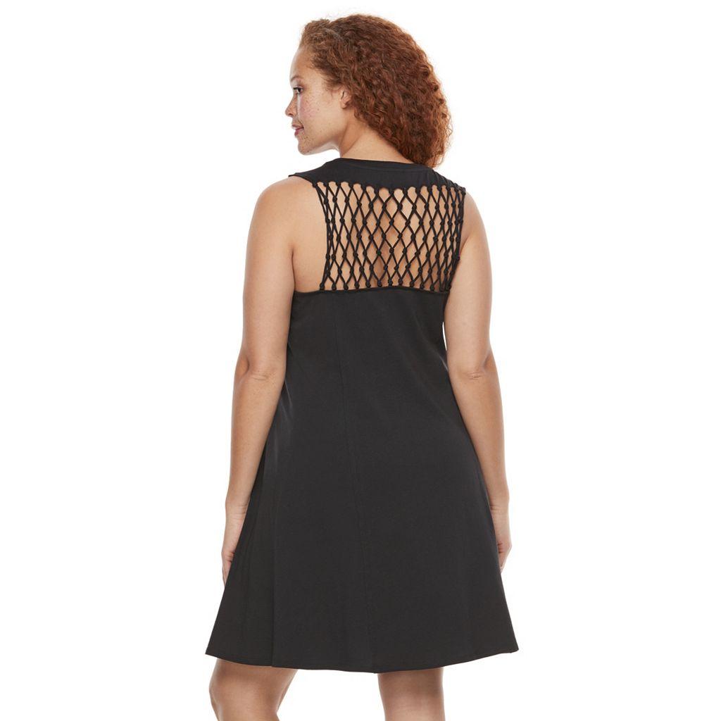 Plus Size Rock & Republic® Crochet Back Dress