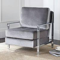 Safavieh Modern Chrome Finish Accent Chair