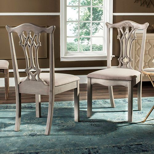 Safavieh Traditional Accent Chair 2-piece Set
