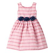 Girls 4-6x Marmellata Classics Striped Dress with Star Rosette Belt