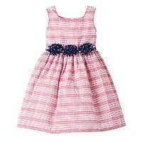 Girls 4-6x Marmellata Classics Striped Dress with Star Rosette Belt