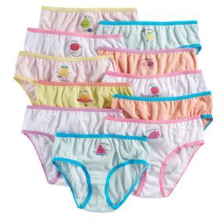 Girls 4-14 Maidenform 11-pk. Fruit Days of the Week Brief Panties