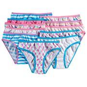 Girls 4-14 Maidenform 11 pkPattern Bikini Panties