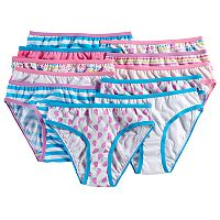 Girls 4-14 Maidenform 11 pkPattern Bikini Panties