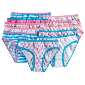 Girls 4-14 Maidenform 11-pk. Pattern Bikini Panties