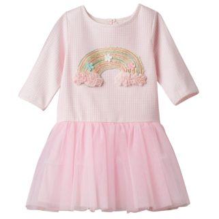 Girls 4-6x Marmellata Classics Embroidered Rainbow Tutu Dress