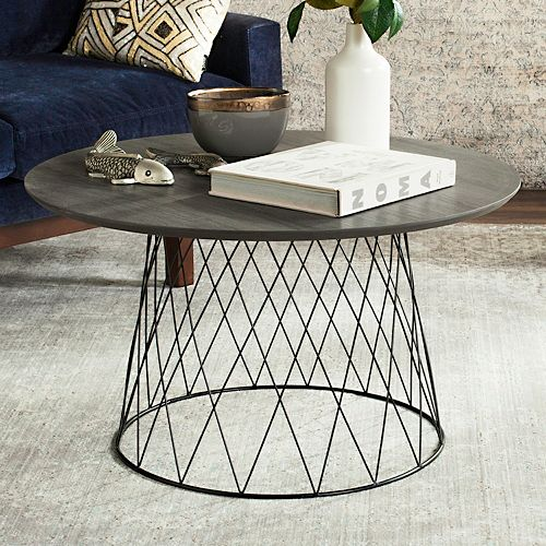 Industrial Round Coffee Table: Safavieh Industrial Contemporary Round Coffee Table