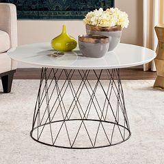 Safavieh Industrial Contemporary Round Coffee Table