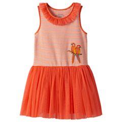 Girls 4-6x Marmellata Classics Sequin Parrot Striped Mesh Dress