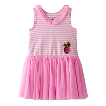 Girls 4-6x Marmellata Classics Pineapple & Striped Tutu Dress