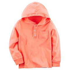 Boys 4-8 Carter's Hooded Henley Top